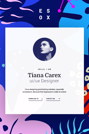 Esox - Personal CV / Resume / vCard PSD Template